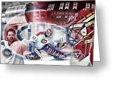 Patrick Roy Montreal Canadiens Greeting Card