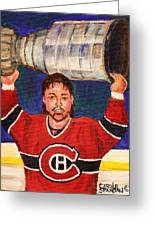 Patrick Roy Wins The Stanley Cup Greeting Card