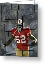 Patrick Willis San Francisco 49ers Blocks Greeting Card