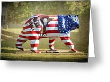 Patriot Bear Greeting Card