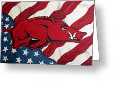 Patriot Hog Greeting Card