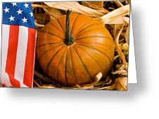 Patriotic American Pumpkin Greeting Card