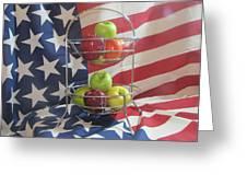 Patriotic Apples Greeting Card