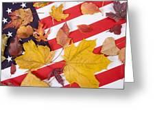 Patriotic Autumn Colors Greeting Card
