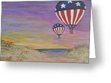 Patriotic Balloons Greeting Card