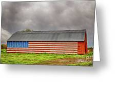 Patriotic Barn Greeting Card