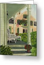 Patriotic Country Porch Greeting Card