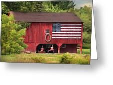 Patriotic Farmer Greeting Card