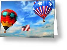 Patriotic Flight Greeting Card