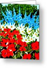 Patriotic Garden Greeting Card by Diane Ursin
