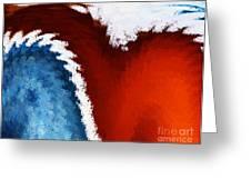 Patriotic Heart Greeting Card