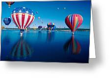 Patriotic Hot Air Balloon Greeting Card