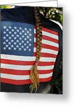 Patriotic Pony Tail Greeting Card