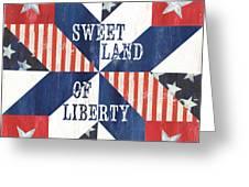 Patriotic Quilt 3 Greeting Card