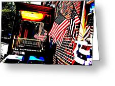 Patriotic Tavern Greeting Card