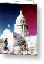 Patriotic Texas Capitol Greeting Card