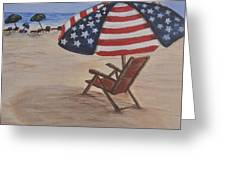 Patriotic Umbrella Greeting Card