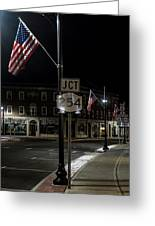 Patriotism In A Small Town Greeting Card