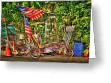 Patriots In The Keys Greeting Card