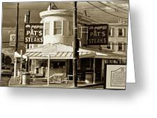 Pat's King Of Steaks - Philadelphia Greeting Card