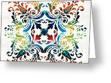 Pattern Art - Color Fusion Design 7 By Sharon Cummings Greeting Card