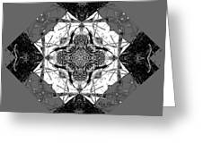 Pattern In Black White Greeting Card by Deleas Kilgore
