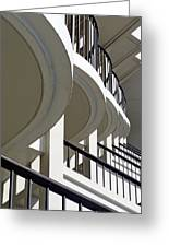 Patterned Balconies Greeting Card