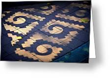 Patterns Azteca Greeting Card