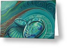 Paua Seabed By Reina Cottier Greeting Card