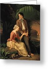 Paul And Virginie Greeting Card