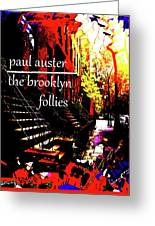 Paul Auster Poster Brooklyn  Greeting Card