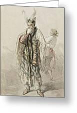 Paul Gavarni French, 1804-1866 Actors Greeting Card