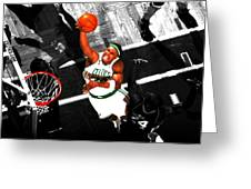Paul Pierce In The Paint Greeting Card