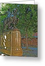 Paul Revere Rides In Boston-massachusetts  Greeting Card