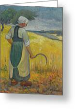 Paul Serusier 1864 - 1927 Breton Young To Sickle Greeting Card