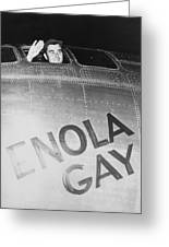 Paul Tibbets In The Enola Gay Greeting Card