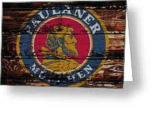 Paulaner Beer Sign 1a Greeting Card