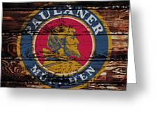Paulaner Beer Sign  Greeting Card