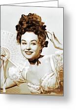 Paulette Goddard, Hollywood Legend Greeting Card
