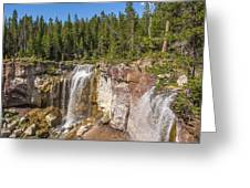 Paulina Creek Falls From The Top Greeting Card
