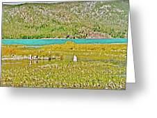 Paulina Lake Formed After Newberry Crater Erupted 1200 Years Ago In Oregon Greeting Card