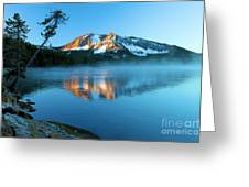 Paulina Peak In Paulina Lake Greeting Card