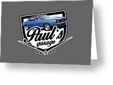 Pauls Garage Camaro Greeting Card