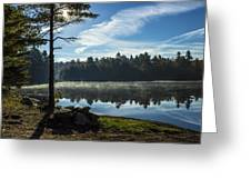 Pauper Lake Morning Greeting Card