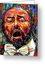Pavarotti Greeting Card