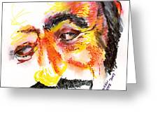 Pavarotti Sketch No. 1 Greeting Card