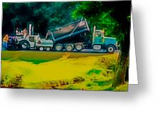 Paving Crew 2 Greeting Card