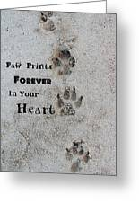 Paw Prints Forever In Your Heart Greeting Card