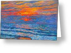 Pawleys Island Sunrise In The Sand Greeting Card