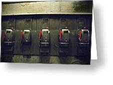 Pay Phones In Alley, Venice Greeting Card